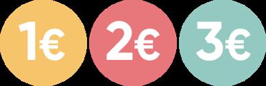 1-2-3 €